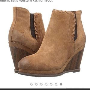 Ariat Shoes - Ariat wedge ankle boots shoes heels 5.5B